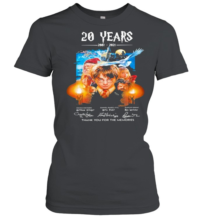 20 Years Of 2001 2021 Thank You For The Memories Harry Potter shirt Classic Women's T-shirt