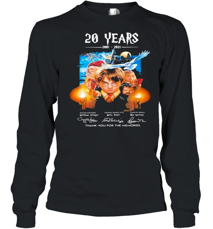 20 Years Of 2001 2021 Thank You For The Memories Harry Potter shirt Long Sleeved T-shirt