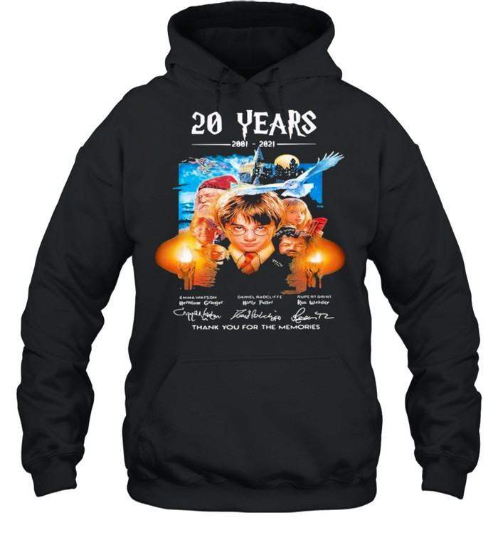 20 Years Of 2001 2021 Thank You For The Memories Harry Potter shirt Unisex Hoodie