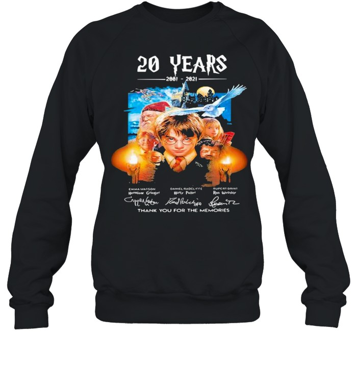20 Years Of 2001 2021 Thank You For The Memories Harry Potter shirt Unisex Sweatshirt