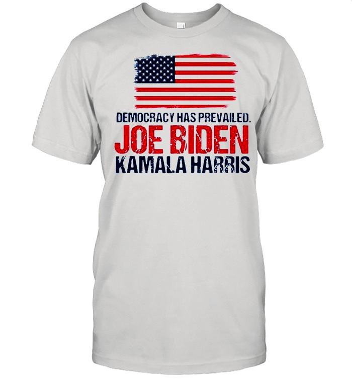 Democracy has prevailed Joe Biden Kamala harris shirt Classic Men's T-shirt