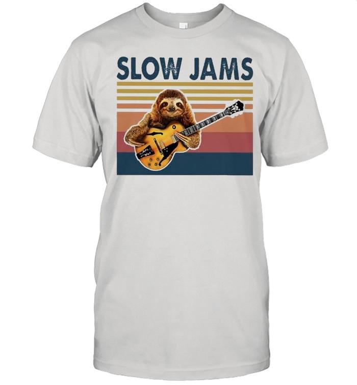 Sloth slow Jams vintage 2021 shirt Classic Men's T-shirt