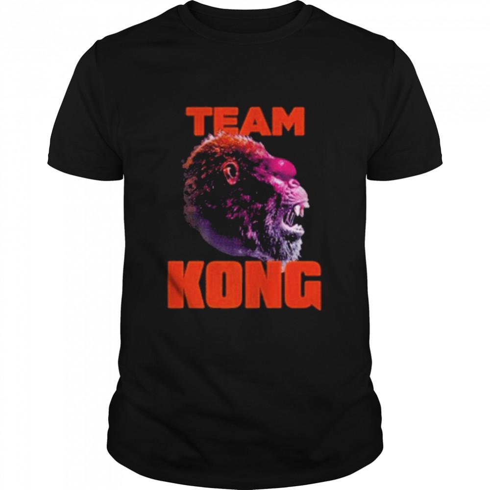 godzilla vs kong team kong neon 2021 shirt