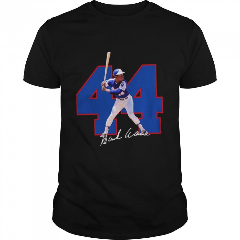 44 Hank Aaron signature 2021 shirt