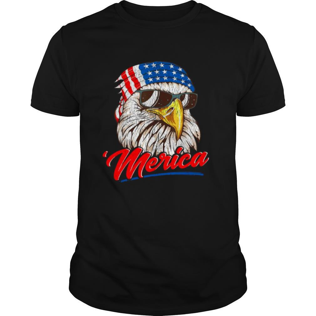 4th Of July Eagle Mullet American Flag merica shirt