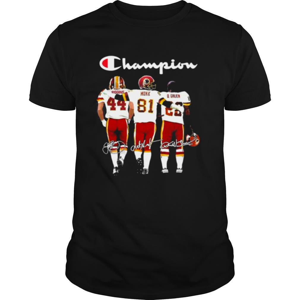 Riggins Monk and D Green Champion signatures shirt