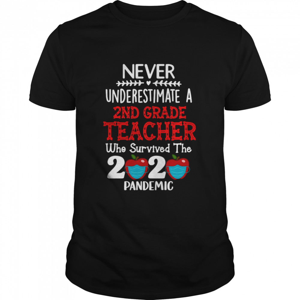 Never Underestimate A 2nd Grade Teacher Who Survived The 2020 Pandemic shirt