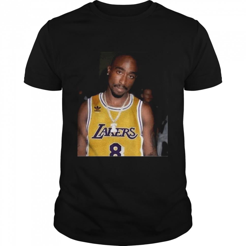 08 Rapper Tupac Shakur Los Angeles Lakers shirt