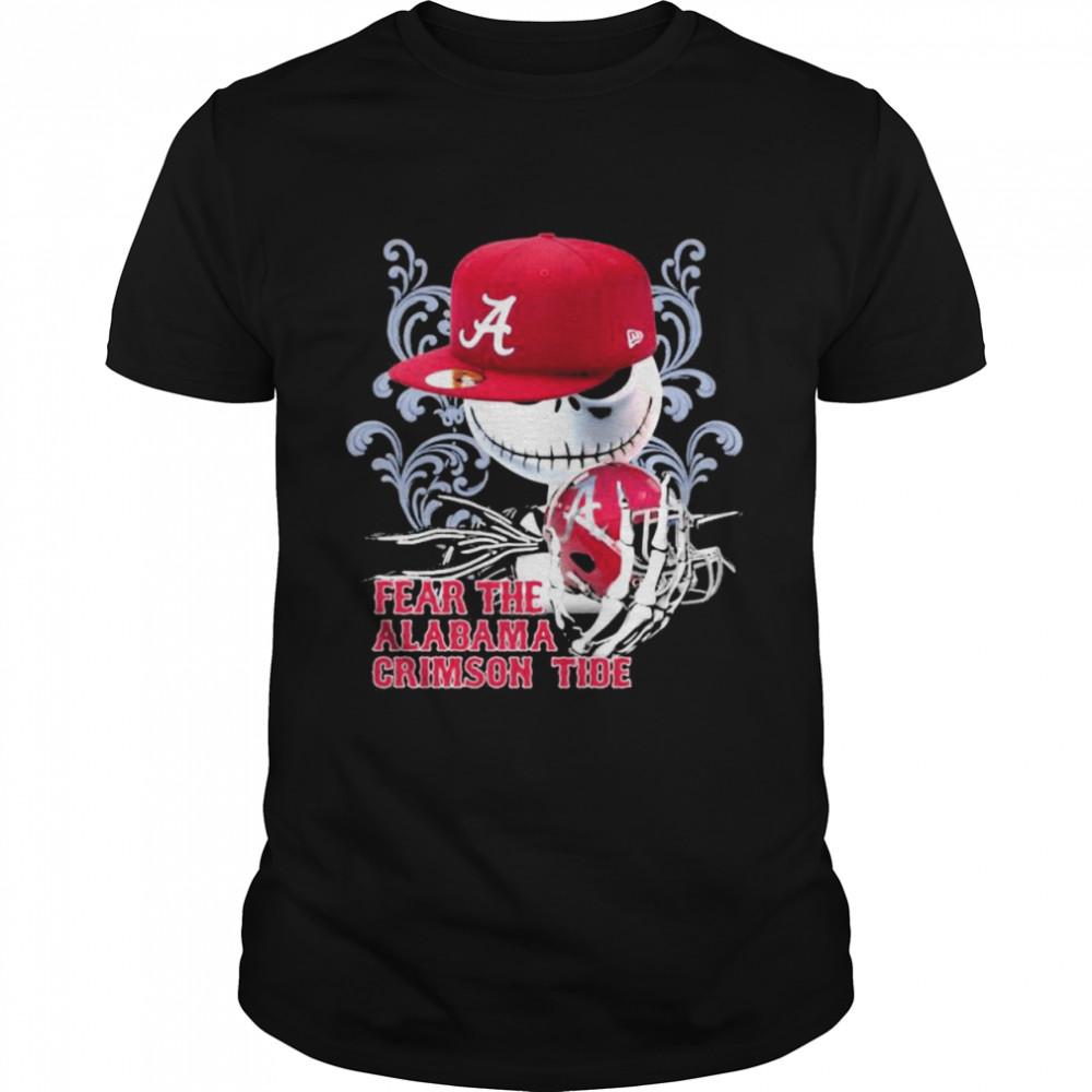 Fear The Alabama Crimson Tide Skull Wear Hat Logo Team shirt