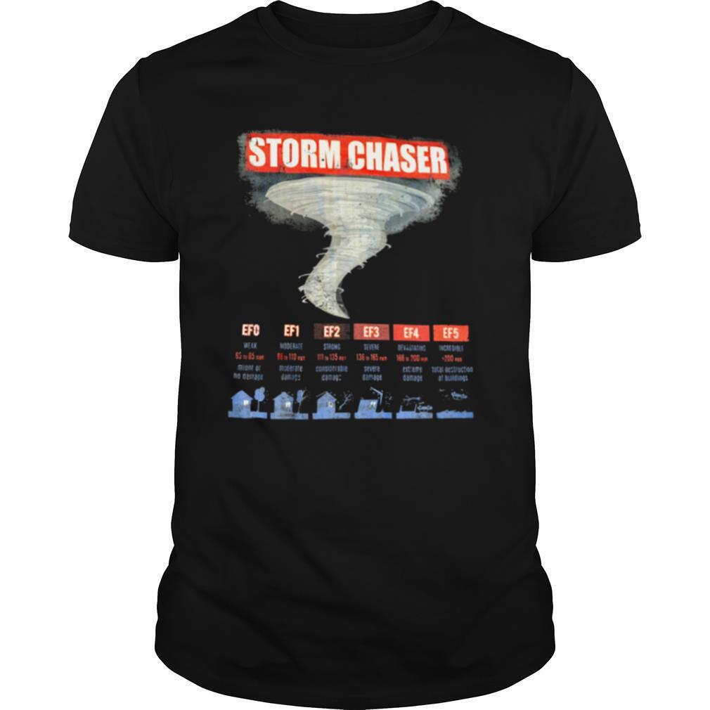 Storm Chaser EFO EF1 EF2 EF3 EF4 EF5 shirt