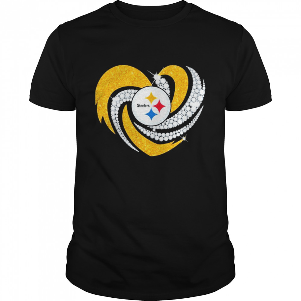 Heart Diamonds Pittsburgh Steelers Team Football shirt