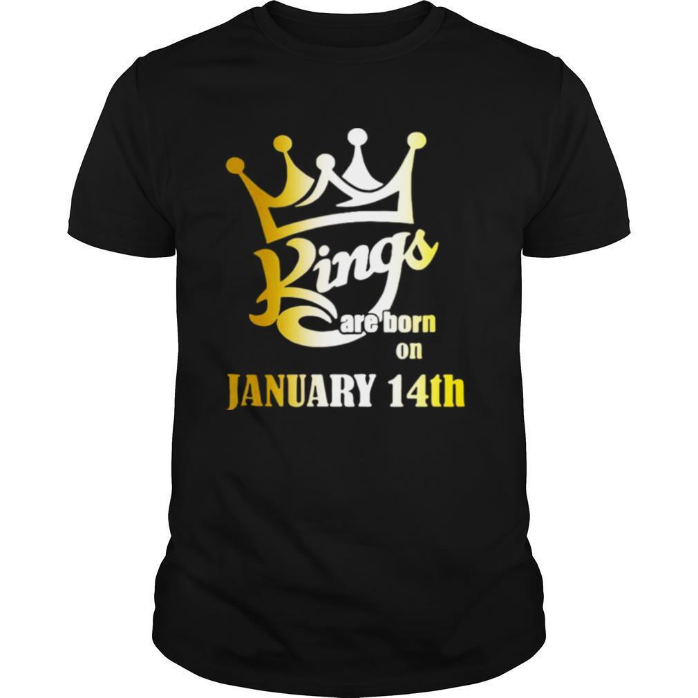 Kings Are Born In January 14th Aquarius shirt