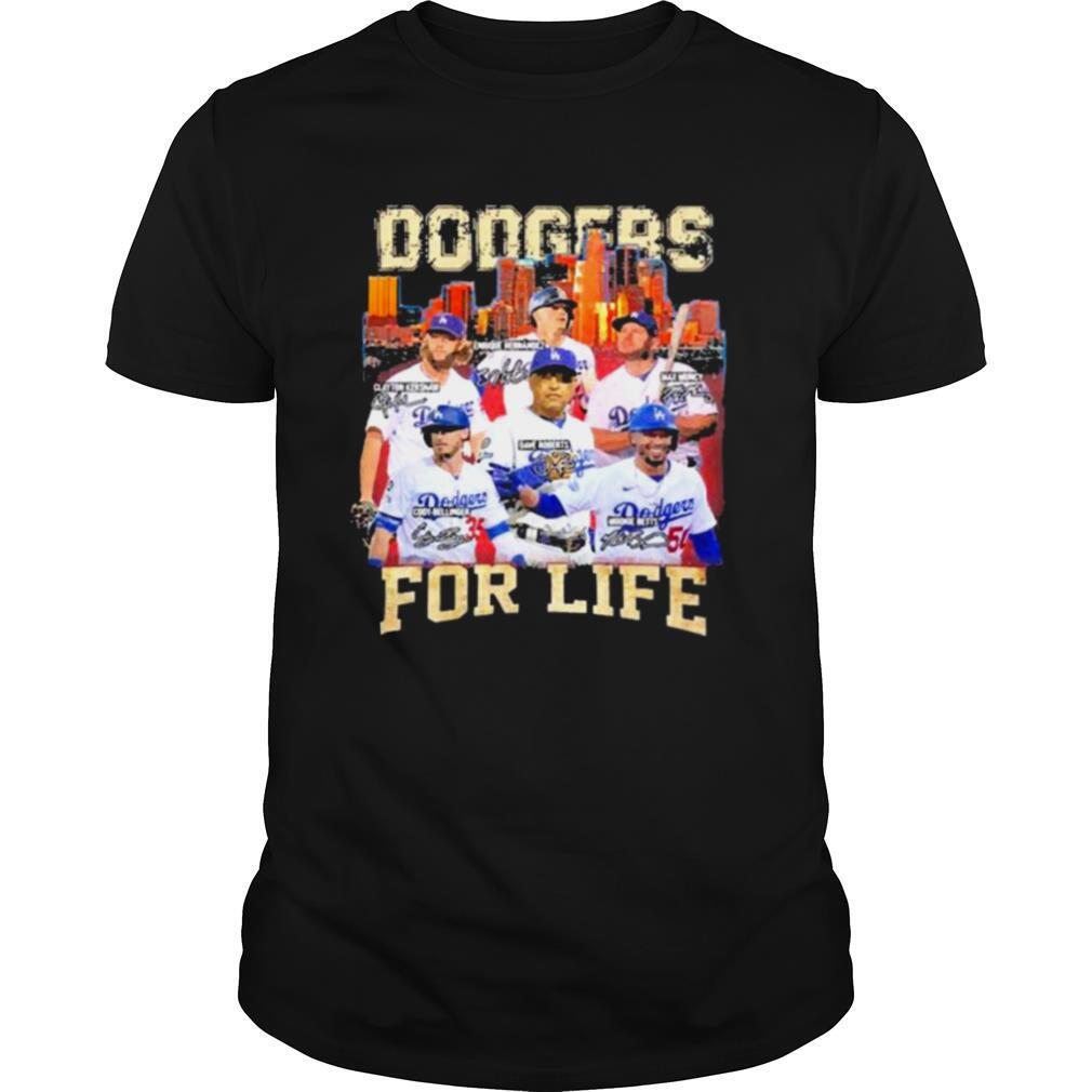 Los Angeles Dodgers Baseball for life signatures shirt
