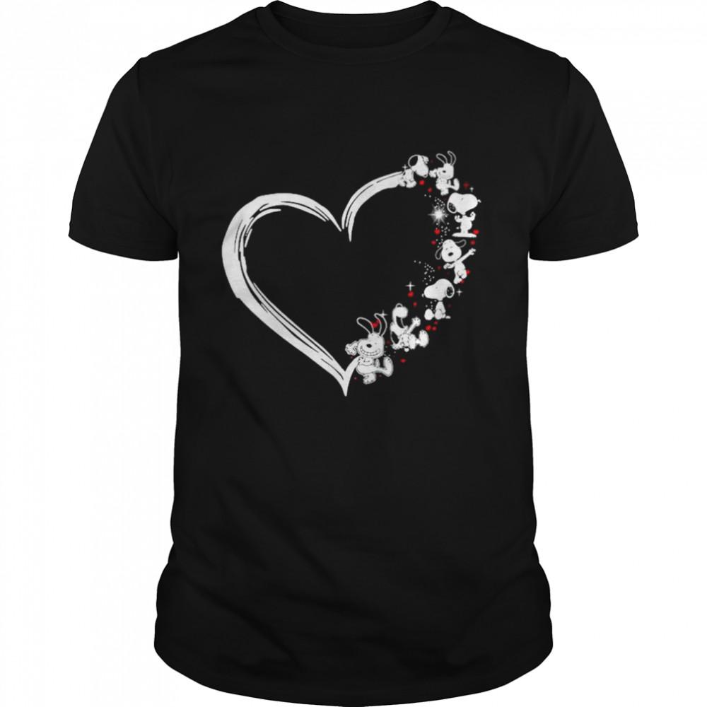 Snoopy Sparkle heart shirt