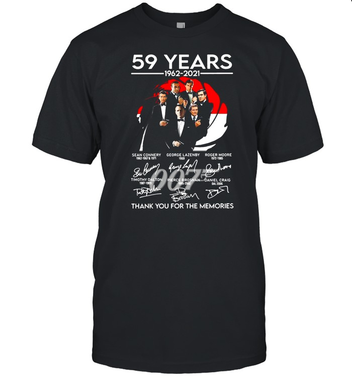 077 59 Years 1962 2021 Signatures Thank You For The Memories shirt