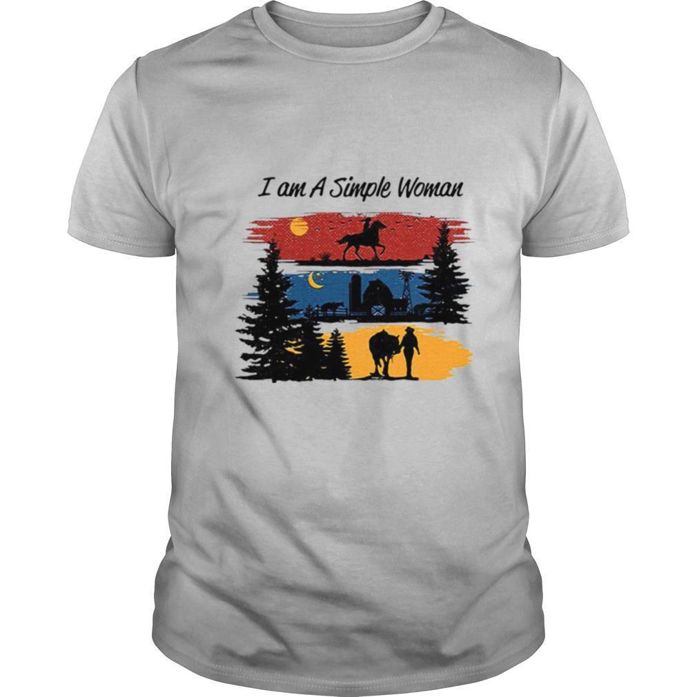 I Am A Simple Woman Horse shirt
