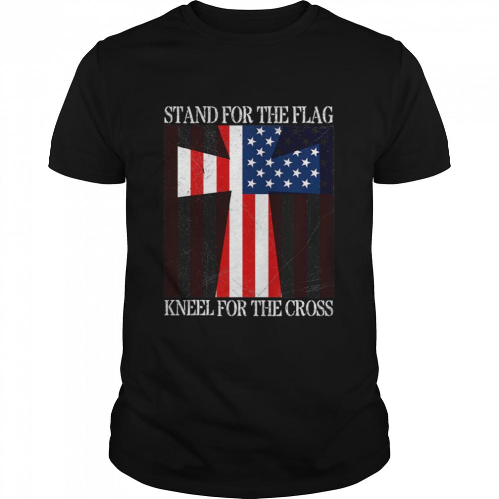 Stand For The Flag Kneel For The Cross Veterans Us Flag shirt
