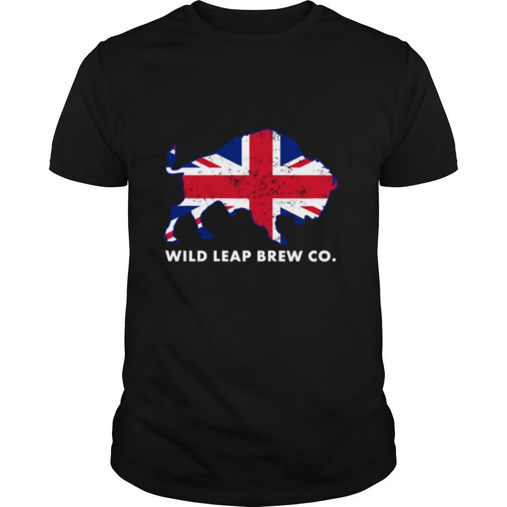 Union Jack Flag Vintage Wild Leap Brew Co shirt