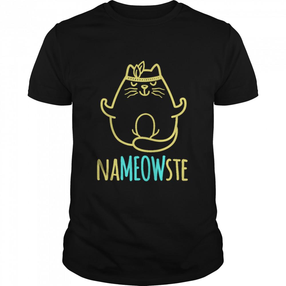 Cat Nameowste Yoga Zen Master Catss shirt