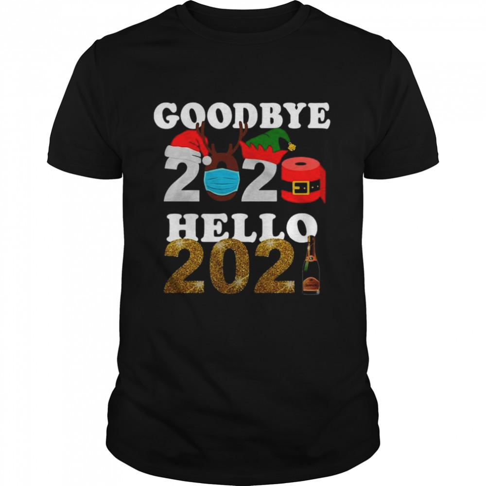 Goodbye 2020 Santa Elf Toilet Paper Hello 2021 shirt