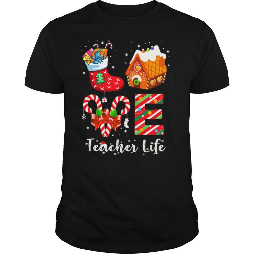 Love Socks House Counselor Life Merry Christmas shirt