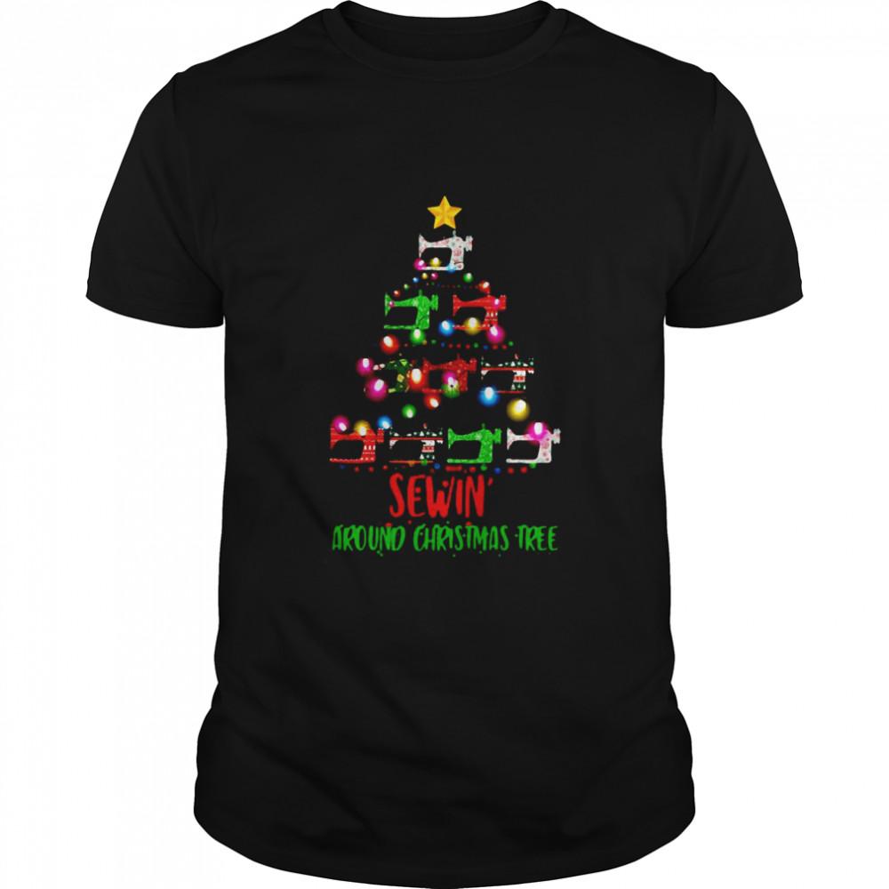 Sewing Around Christmas Tree shirt
