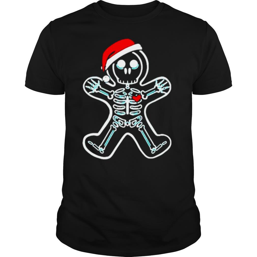Xray Gingerbread Santa Christmas shirt