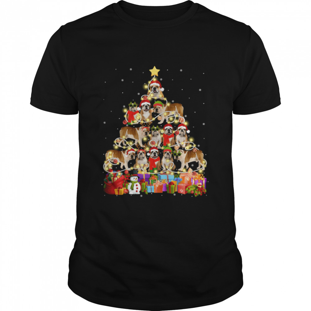 English Bulldog Christmas Tree Pet Dog shirt