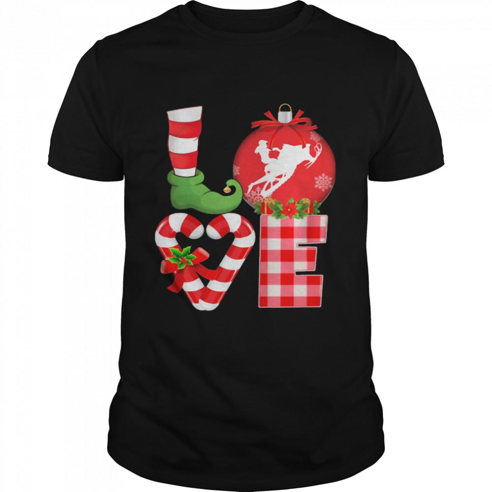 Love Snowboarding Pajama Elf Mery Christmas shirt