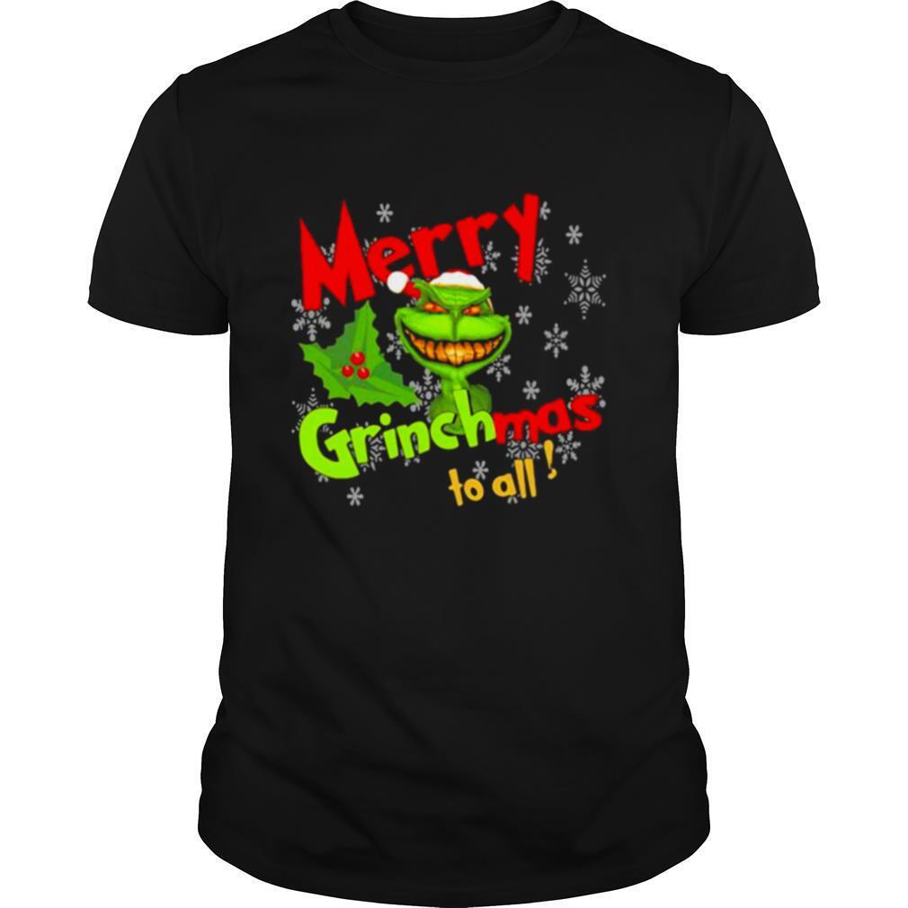 Merry Grinchmas To All Skull Grinch shirt