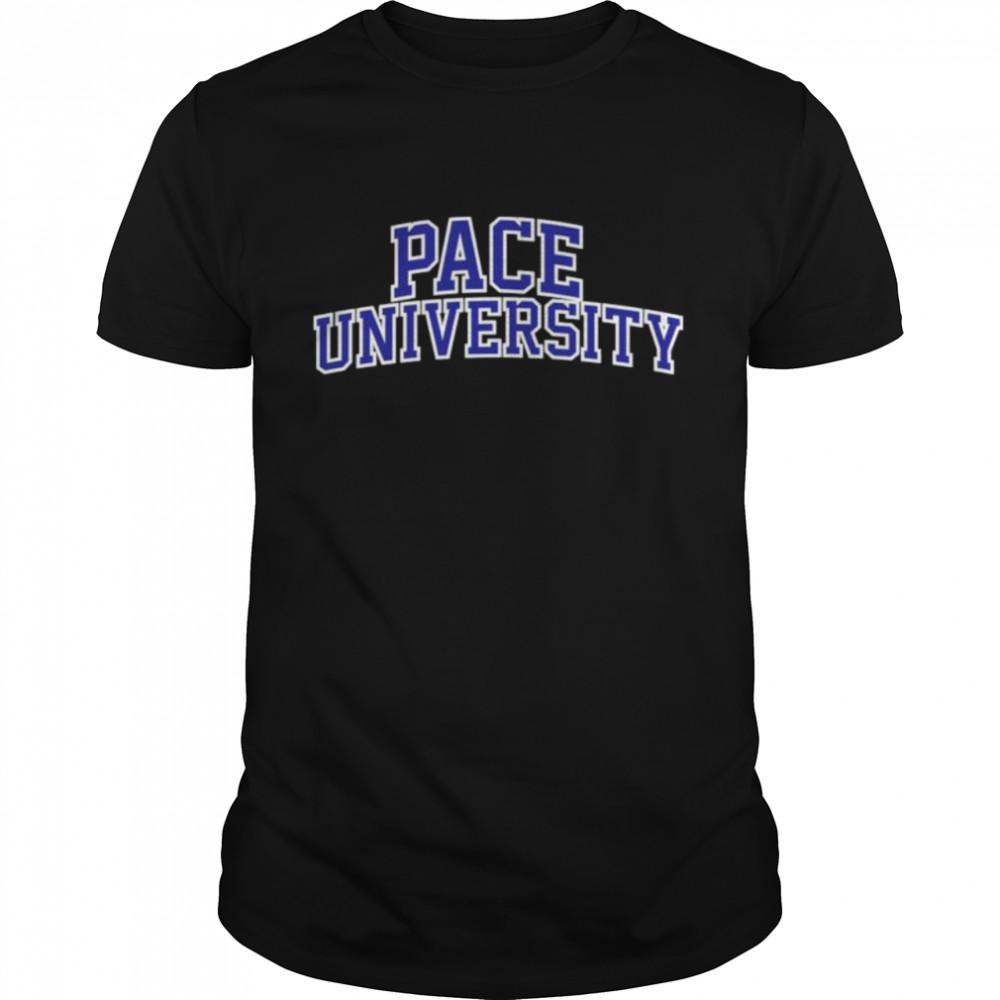 Pace University blue shirt
