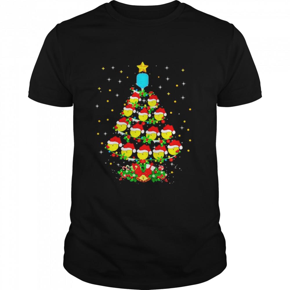 Pickleball Christmas tree sport lover Xmas shirt