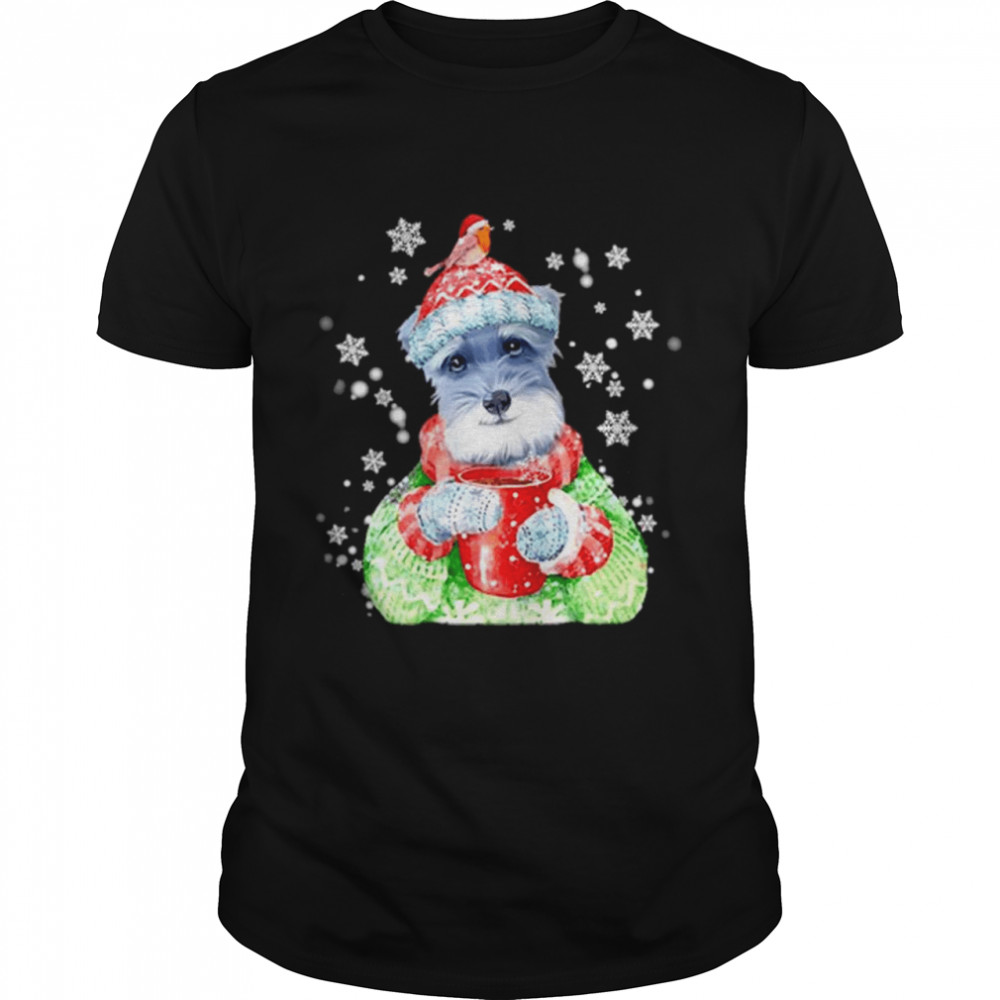 Schnauzer Warm Winter Christmas Dog Lover shirt