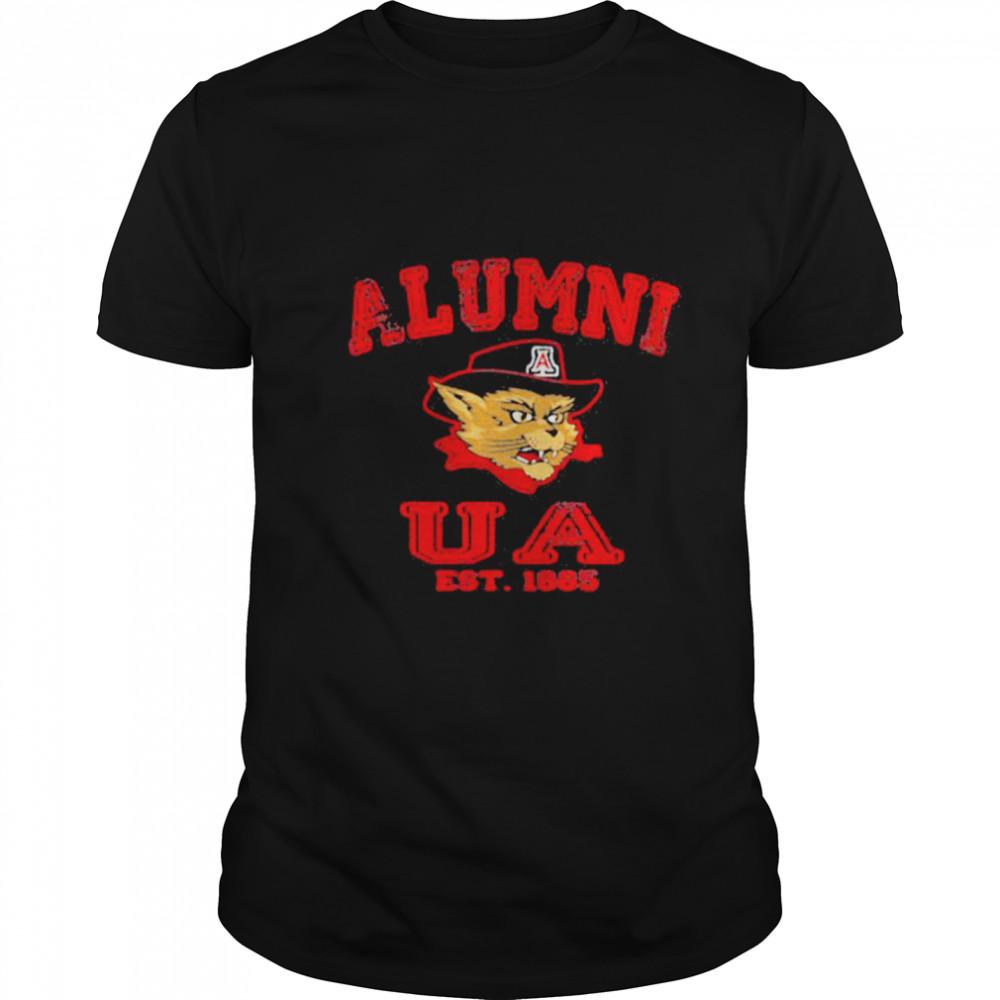 Alumni Ua Est 1885 Man Wildcat Hat Black shirt