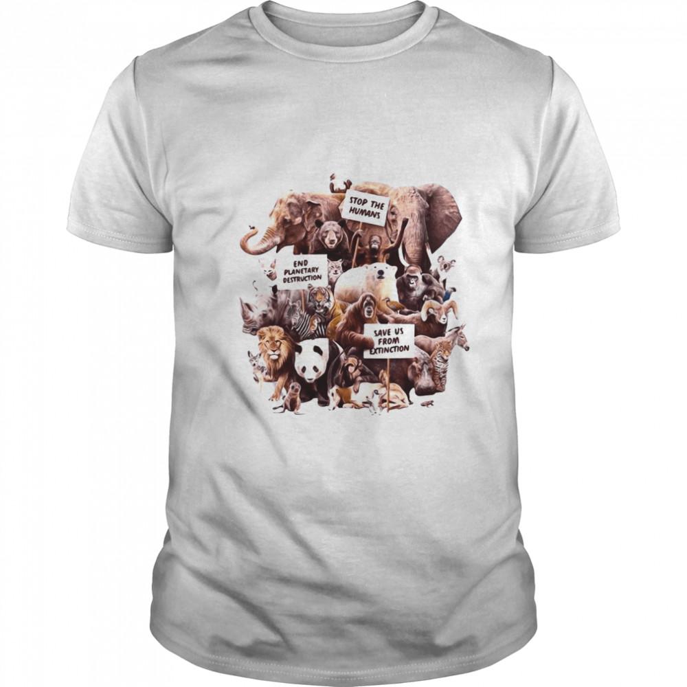 Dirty Velvet Animal Activists Graphic shirt