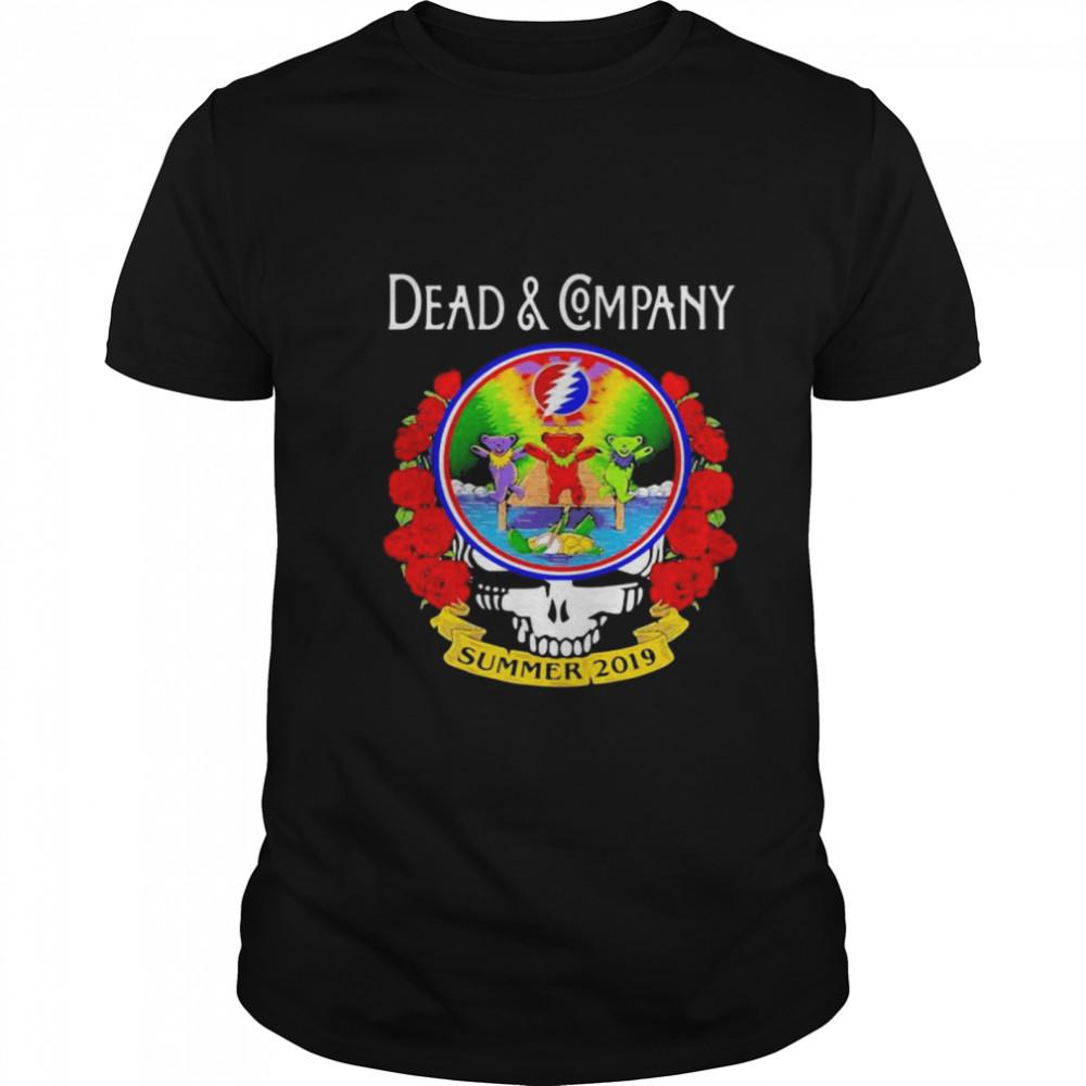 Grateful Dead And Company Dancing Bear Roses Summer 2019 shirt