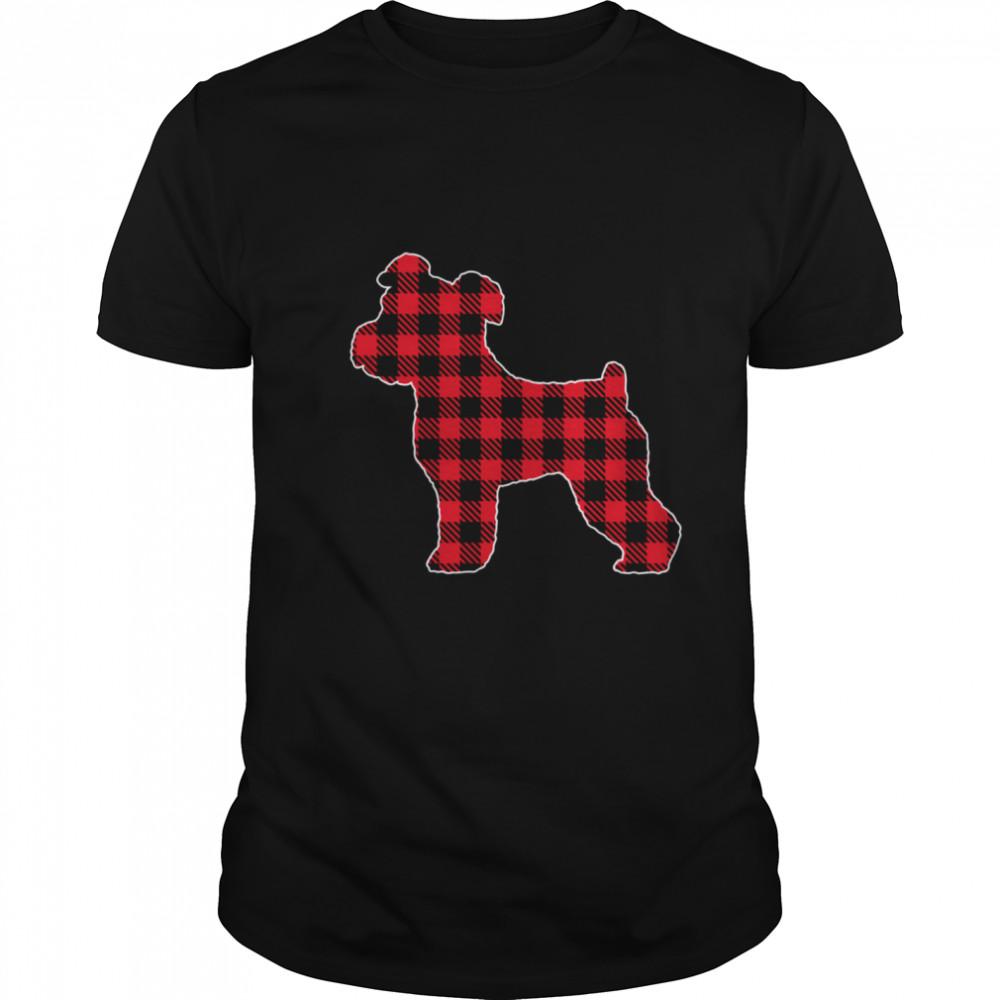 Red Plaid Buffalo Cute Miniature schnauzer Christmas Pajamas shirt