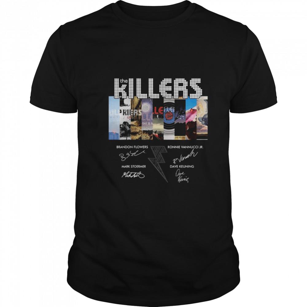 The Killers Band Members Signatures shirt