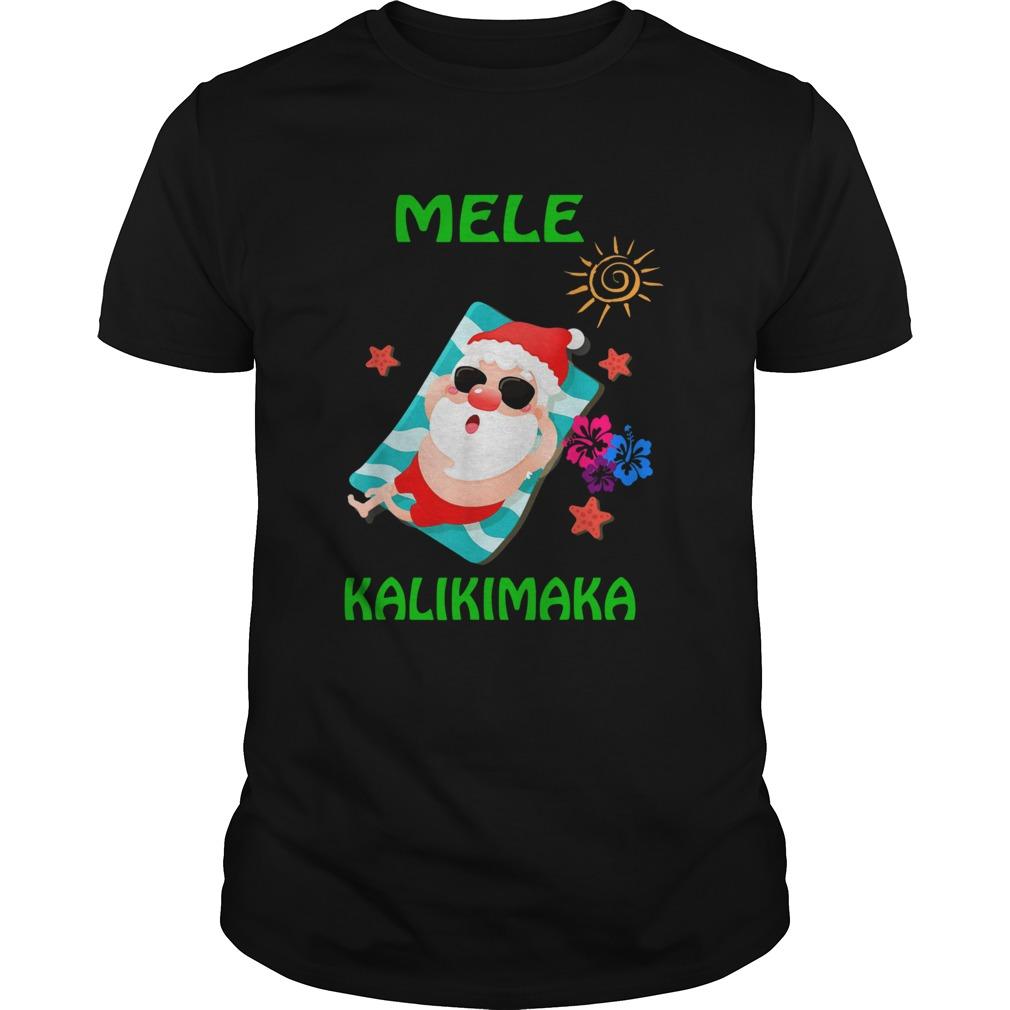 Beach Santa Mele Kalikimaka Hawaiian Christmas Hawaii shirt
