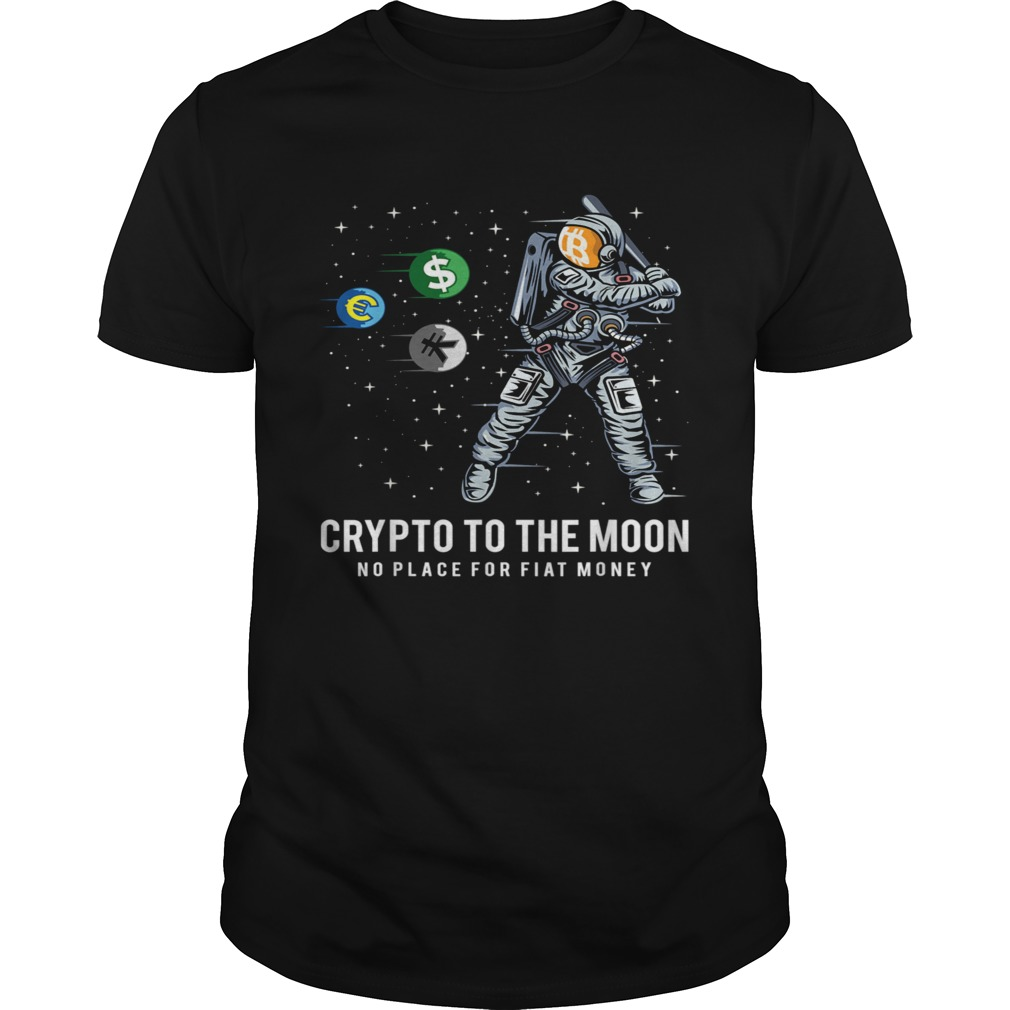 Crypto To The Moon Astronaut Baseball BTC Crypto Bitcoin shirt