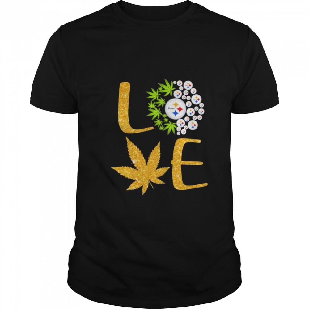 Love Steelers Cannabis Football shirt