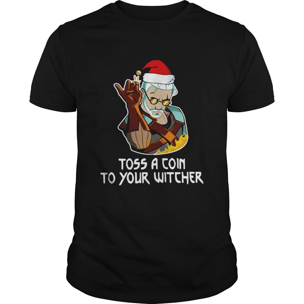 Santa Salt Bae Toss A Coin To Your Witcher Christmas shirt