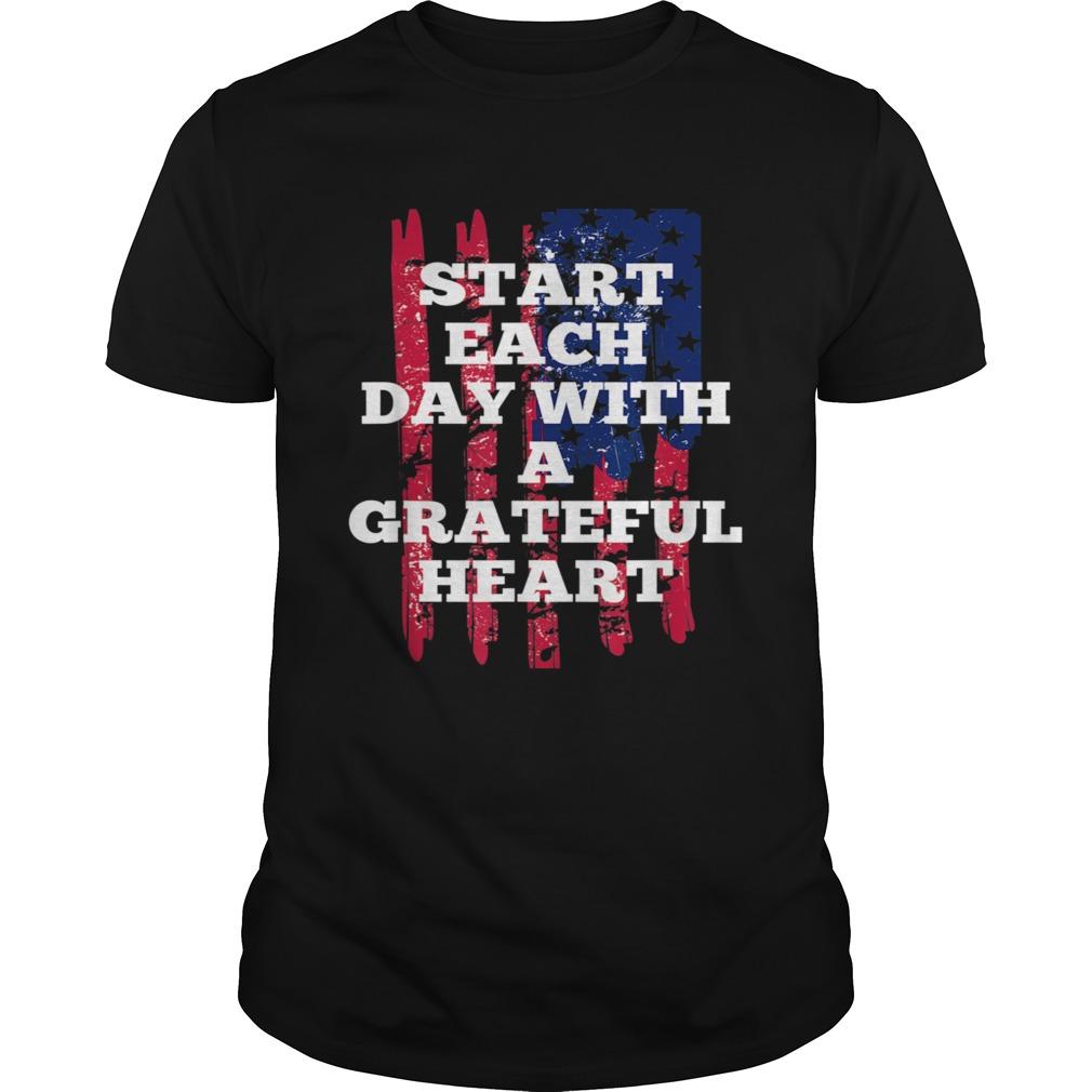Start Each Day With A Grateful Heart Christmas shirt