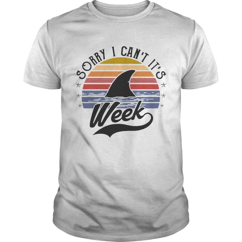 Sorry I Cant Its Week Vintage shirt