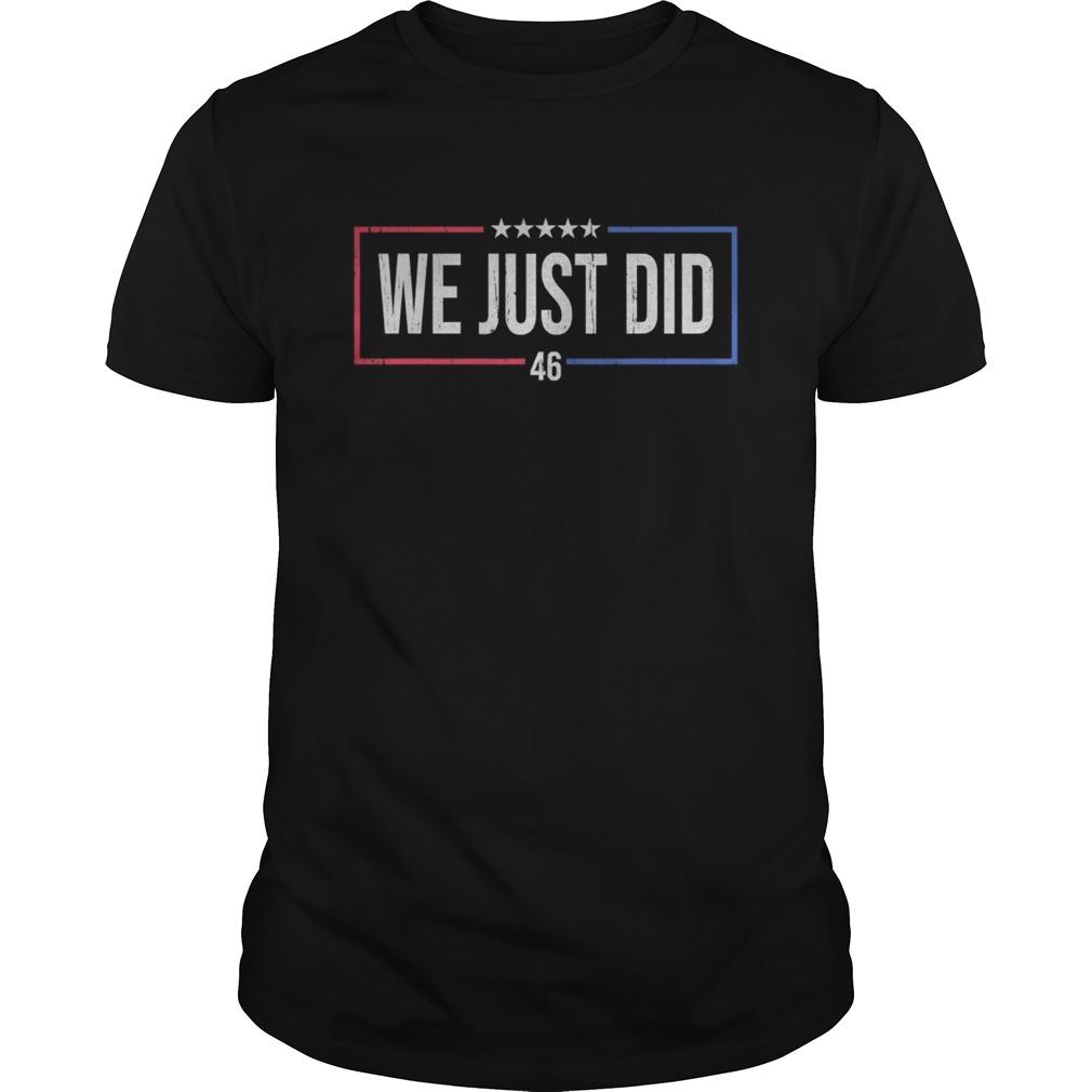 We just did 46 stars 2020 shirt