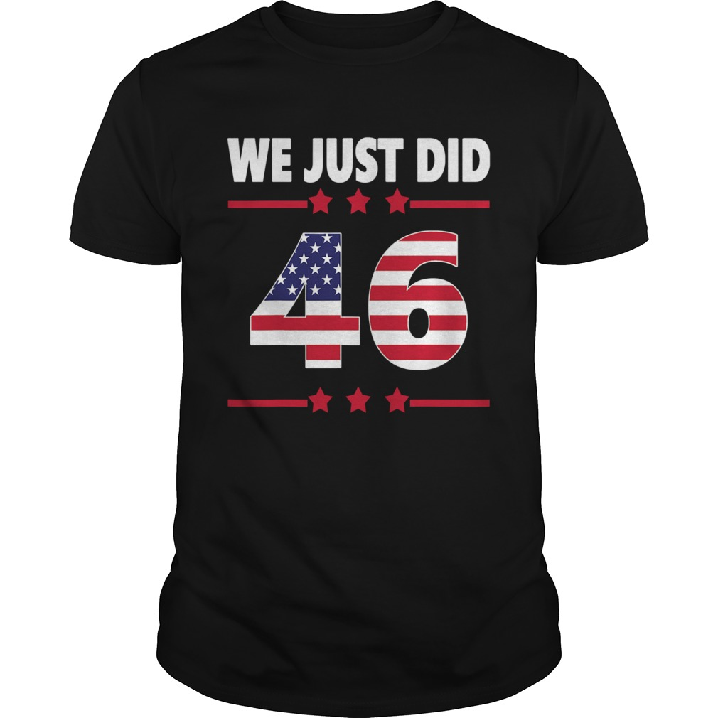 We just did 46 we just did distress american flag shirt