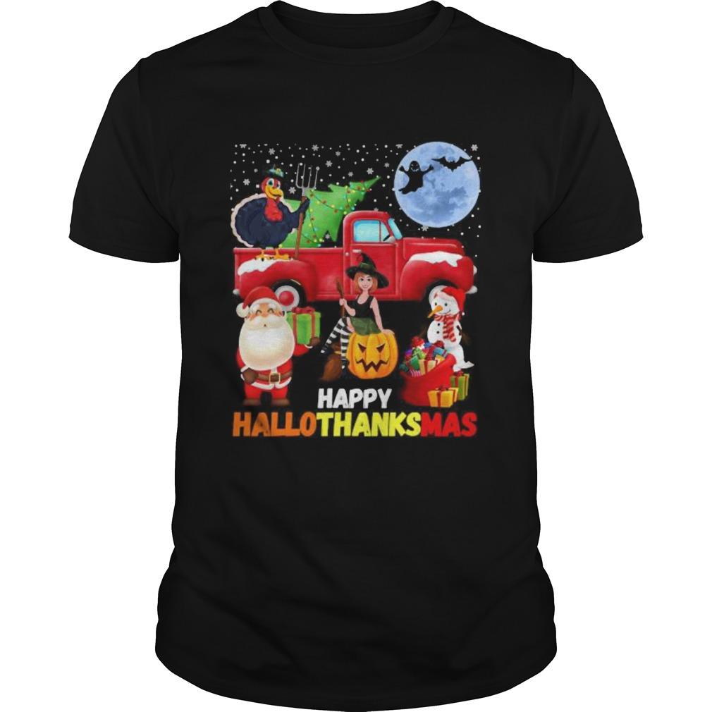 Happy hallothanksmas halloween thanksgiving christmas shirt