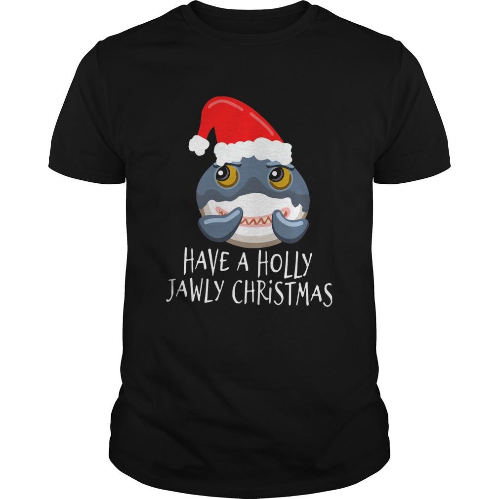 Santa Shark Have A Holly Jawly Christmas shirt
