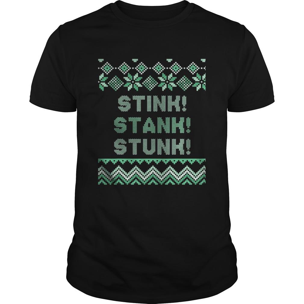 Stink stank stunk matching family ugly pajamas shirt