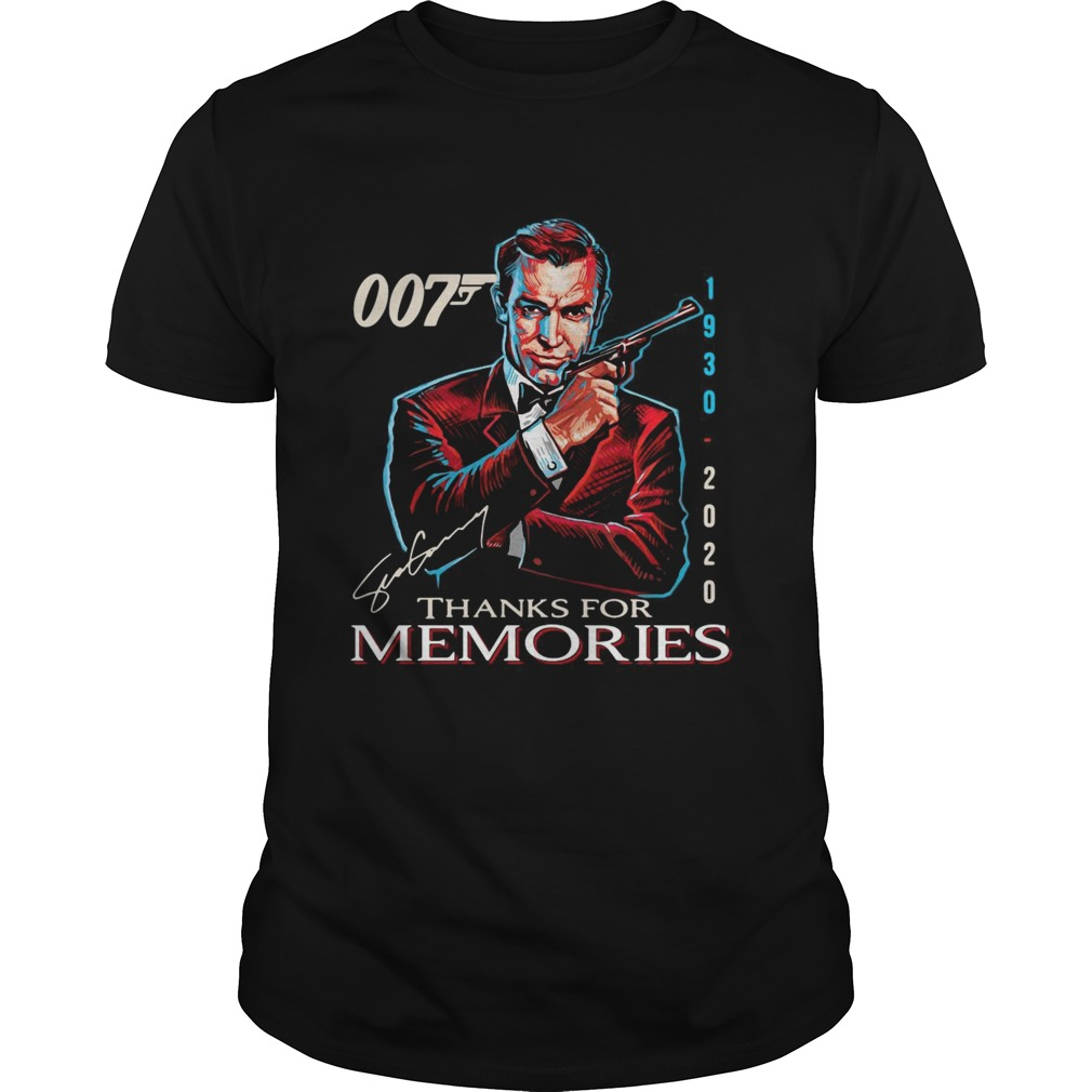 007 19302020 Signature Thanks For Memories shirt